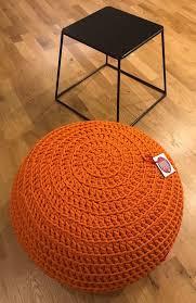 Orange round ottoman Wheels Orange Round Ottoman Pouf Ottoman Crochet Pouf Footstool Estylefocusco Orange Round Ottoman Pouf Ottoman Crochet Pouf Footstool Church