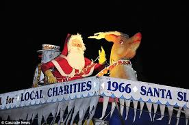 plastic santa grounding father has caused a row with former members of cheam round