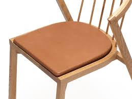 best brown leather church chair pads uk