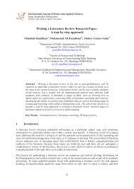 Sebagai sarana memberi masukan pada artikel jurnal. Pdf Writing A Literature Review Research Paper A Step By Step Approach