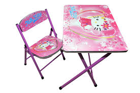 hello kitty kids furniture. Happy Kids Foldable Study Table And Chair - Hello Kitty (Pink): Amazon.in: Toys \u0026 Games Furniture