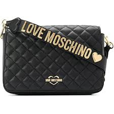 Moschino® Handbags − Sale: up to −62% | Stylight & Love Moschino quilted shoulder bag - Black Adamdwight.com