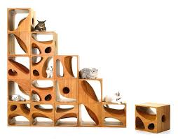 wooden cubes furniture. Designed By LYCS Architecture, These Wooden Cubes Were As Spaces Where Cats Can Play Around. The Inspired Their Previous Cat-inspired Furniture