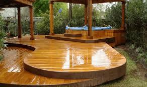 hot tub deck. Hot Tub In Deck With Gazebo L