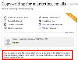 copywriting for marketing emails job description on upwork copywriter job description