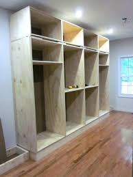 built in closet shelves plywood
