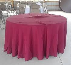 round polyester burdy tablecloths