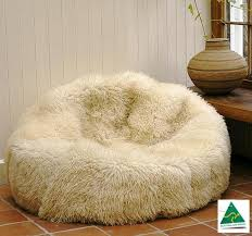 luxury australian merino sheepskin bean bag
