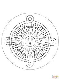 Coloring Pages Mayan Calendar Fresh Mandala Colored New Aztec Free