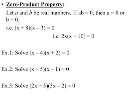 equations in factored form goal you will solve polynomial 2 zero