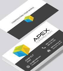 Construction Business Card Apex Construction Business Card Modern
