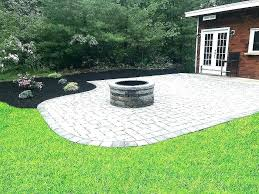 how to build a stone patio with a fire pit how to build a stone patio