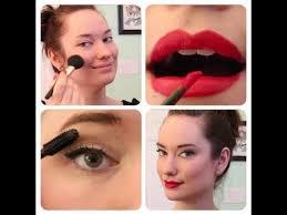 everyday pinup makeup tutorial the rachel dixon retro rockabilly vine red lip cat eye how to