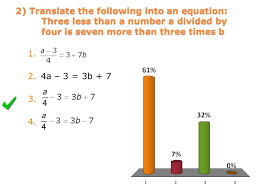2 translate the following into an equation three less than a number a divided