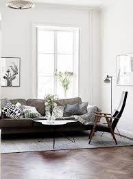 dark wood for furniture. Lovely Place, I Like The Combination Of White Walls And Dark Wood Floor Furniture Here. Apartment Is Furnished With A Lot Mid Century Modern For