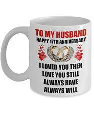 17 year 17th wedding anniversary gift for him men husband couples romantic happy