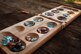 Wooden Board Games Uk Wooden Mancala Game Board Set with Markers by JustOffNormal on 87