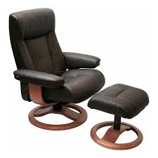 havana leather fjords scansit 110 recliner chair and ottoman