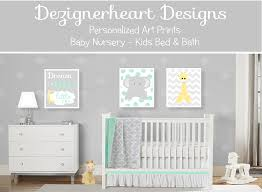 >baby girl nursery wall art coral aqua gray elephant giraffe birds  store