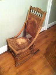 stunning vintage wooden rocking chair antique display aged look nursing chair rare