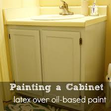 painting bathroom tips for beginners. painting a bathroom cabinet (and how to paint over oil-based with latex tips for beginners
