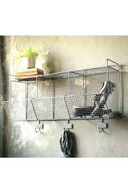 hanging wire storage baskets wall basket with hooks wire basket wall storage wall storage with hooks
