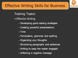 effective writing skills for business training topics effective 1 effective
