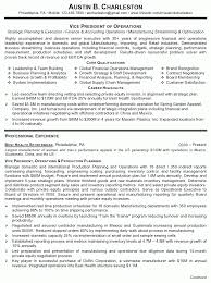 Operations Resume Examples Resume Sample 4 Vice President Of Operations Career Resumes