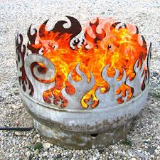 image of metal fire pit moderns style