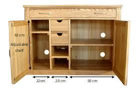 conran solid oak hidden home office. Mobel Contemporary Oak Computer Desk / Sideboard In 100% Solid Conran Hidden Home Office
