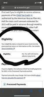 Child Tax Credit Portal Error ...