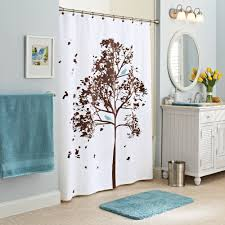 girls shower curtain better homes and gardens farley tree fabric shower curtain
