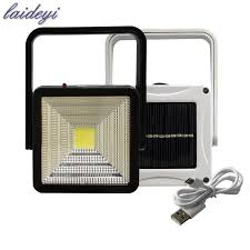 laideyi rechargeable portable solar led flood light outdoor camping lamp garden solar spotlight night lights drop 831 garden solar solar led flood