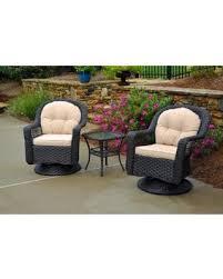3 piece cushion set for outdoor furniture amazing hot biloxi espresso brown resin wicker 9