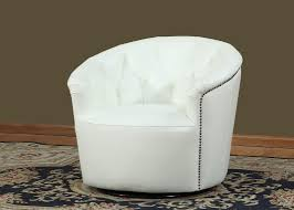 white tufted chair. White Leather Monroe Collection Split Tufted Back Swivel Tub Chair
