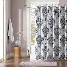 black and gray shower curtain. id sydney black damsk print shower curtain and gray
