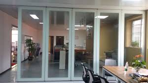 china folding glass partition wall interior glass door for banquet hall supplier