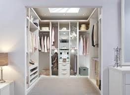 fitted walk in wardrobe in pearl white