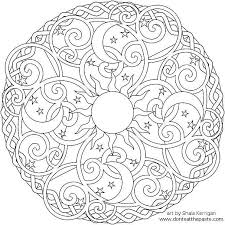 These geometric shapes are beautiful and the same picture can turn out completely different depending on who colors it. Free Printable Mandala Coloring Pages For Adults