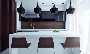 Black Pendant Lights Over Island Flared Black Kitchen Pendants Awesome Decors