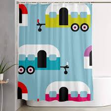 Campervan Design Curtains Amazon Com Shectan 60x72 Inch Shower Curtain Camper