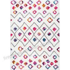 nuloom geometric diamond trellis large area rug pink 239 x 305 cm b0722s9qmd