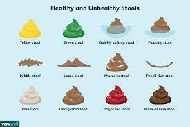 healthy and unhealthy stool