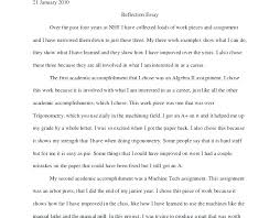 Nhs Example Essay Reflective Essay Examples Reflective Essay Example