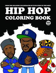 hip hop coloring book paperback april 15 2018