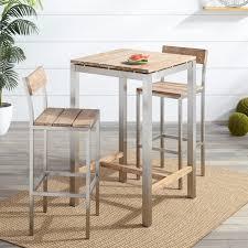 teak bistro table and chairs. Macon 3-Piece Teak Outdoor Bistro Set - Whitewash Table And Chairs E