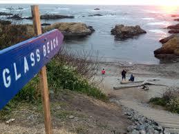 glass beach sign