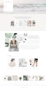 Showit 5 Designs Violet Showit 5 Template Design By Seaside Creative Airy