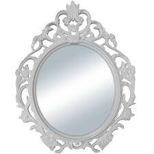 """Mainstays White <b>Baroque</b> Oval <b>Wall Mirror</b> 24""""x19"""" - Walmart.com ..."""