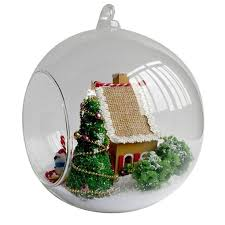 DIY Glass Ball <b>Wooden</b> Dollhouse Handmade Mini Miniature ...